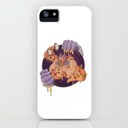 Greasy Pizza Time iPhone Case