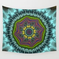 agate Wall Tapestries featuring Fractal Agate by Harvey Warwick