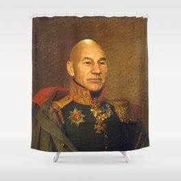 Sir Patrick Stewart - replaceface Shower Curtain