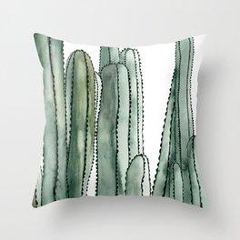 Desert Cactus Cluster Throw Pillow