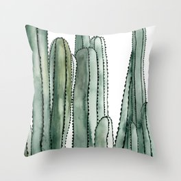 Desert Cactus Cluster Throw Pillow