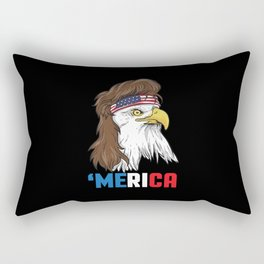 Patriotic Mullet Eagle | Merica Stars and Stripes Rectangular Pillow