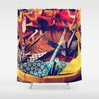 crane Shower Curtains featuring Crane  by Francessca.n.Angel
