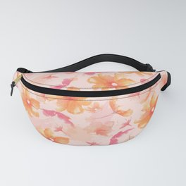 Pink Coral Floral Fanny Pack