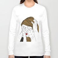 introvert Long Sleeve T-shirts featuring Introvert 7 by Heidi Banford