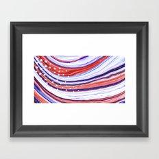 Modern American Flag - Red White And Blue - Sharon Cummings Framed Art Print