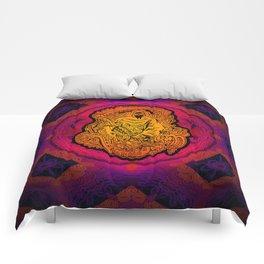 Psychedelic Grim Reaper Comforters