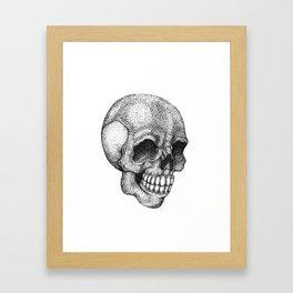 Dot-work skull Framed Art Print