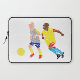 Abstract Soccer player Laptop Sleeve
