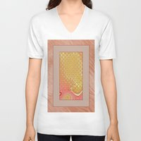 frame V-neck T-shirts featuring Frame by Fine2art