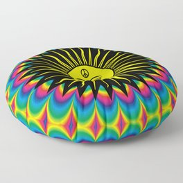 Psychedelic Hippie Trippy Summer Festival Floor Pillow
