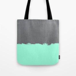 Mint Paint on Concrete Tote Bag
