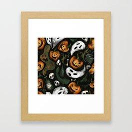 Vintage Halloween Framed Art Print