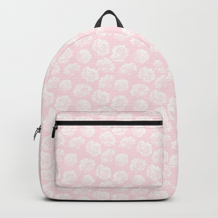 Pink Roses in Flamingo Pink Backpack