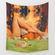 Legs & planet Wall Tapestry