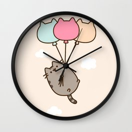 Cat Flying Wall Clock