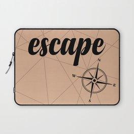 Go escape, go discover... Laptop Sleeve