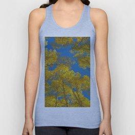 Aspen Trees Against Sky Unisex Tank Top