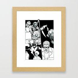 Sick of Crime Framed Art Print