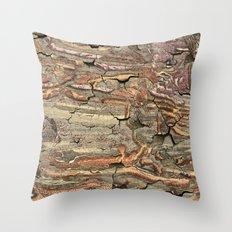 Peeling Worm Wood Throw Pillow