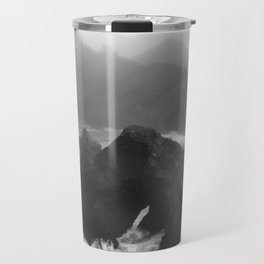 Rain Falling at Oregon's Indian Sands Travel Mug