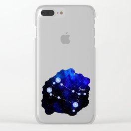 Gemini Constellation in Sapphire - Star Signs and Birth Stones Clear iPhone Case