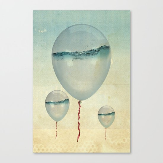 Wet Weather balloons Canvas Print