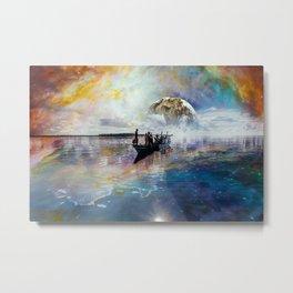 Nebula Reflections Metal Print