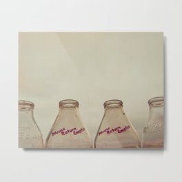 Milk bottles Metal Print