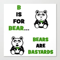 B is For Bear Canvas Print