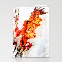 artsy Stationery Cards featuring gladioli Artsy by Artsy Arts By Rosanna.