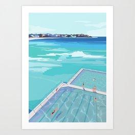 Life at Bondi Beach Art Print