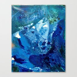 Environmental Blue Leaves, Tiny World Collection Canvas Print