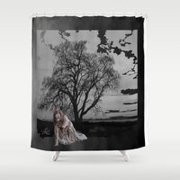zombie Shower Curtains featuring zombie by Shea33