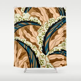 BALINESIA: BIG SKY RANCH, Art Deco Tropical Shower Curtain