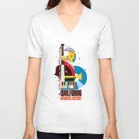 mozart V-neck T-shirts featuring Mozart by Szoki