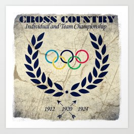 Cross Country - Olympic Vintage Art Print