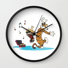 Calvin and hobbes Dance and Happy Wall Clock