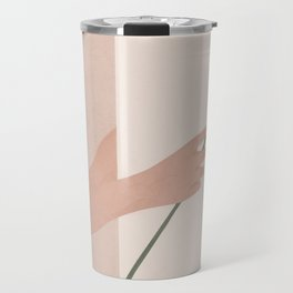 One Rose Flower Travel Mug