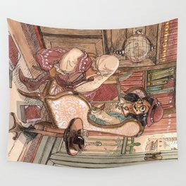 Le Salon Rouge Wall Tapestry