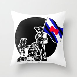 Pup Pride Throw Pillow