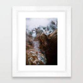 Kerlingarfjöll mountain range in Iceland - Aerial Landscape Photography Framed Art Print