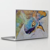 sphynx Laptop & iPad Skins featuring Sphynx Cat by Michael Creese