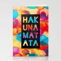 hakuna Stationery Cards featuring Hakuna matata by Elisabeth Fredriksson