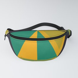 Green Triangles Fanny Pack