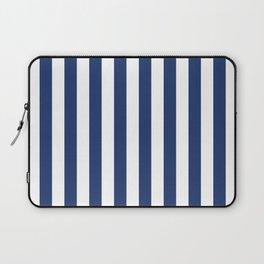 Vertical Navy Stripes Pattern Laptop Sleeve
