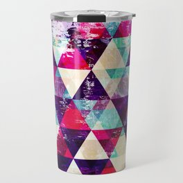 "Retro Geometrical Abstract Design ""Josephine"" inspired Travel Mug"