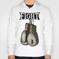 boxing Hoodies featuring Boxing Gloves - Fight Vintage Boxing by 319media
