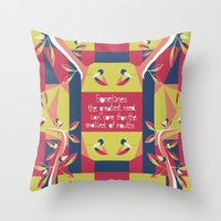 matisse Throw Pillows featuring Black Robin - Matisse Inspired by MadexDesigns