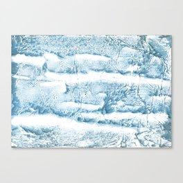 Blue marble streaked wash drawing Canvas Print